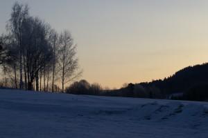 Like før soloppgang, utsikten nord-vestover